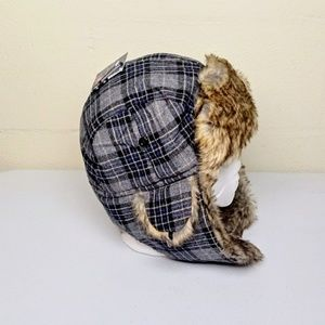 Saddlebred Trapper Hat Plaid L/XL NWT